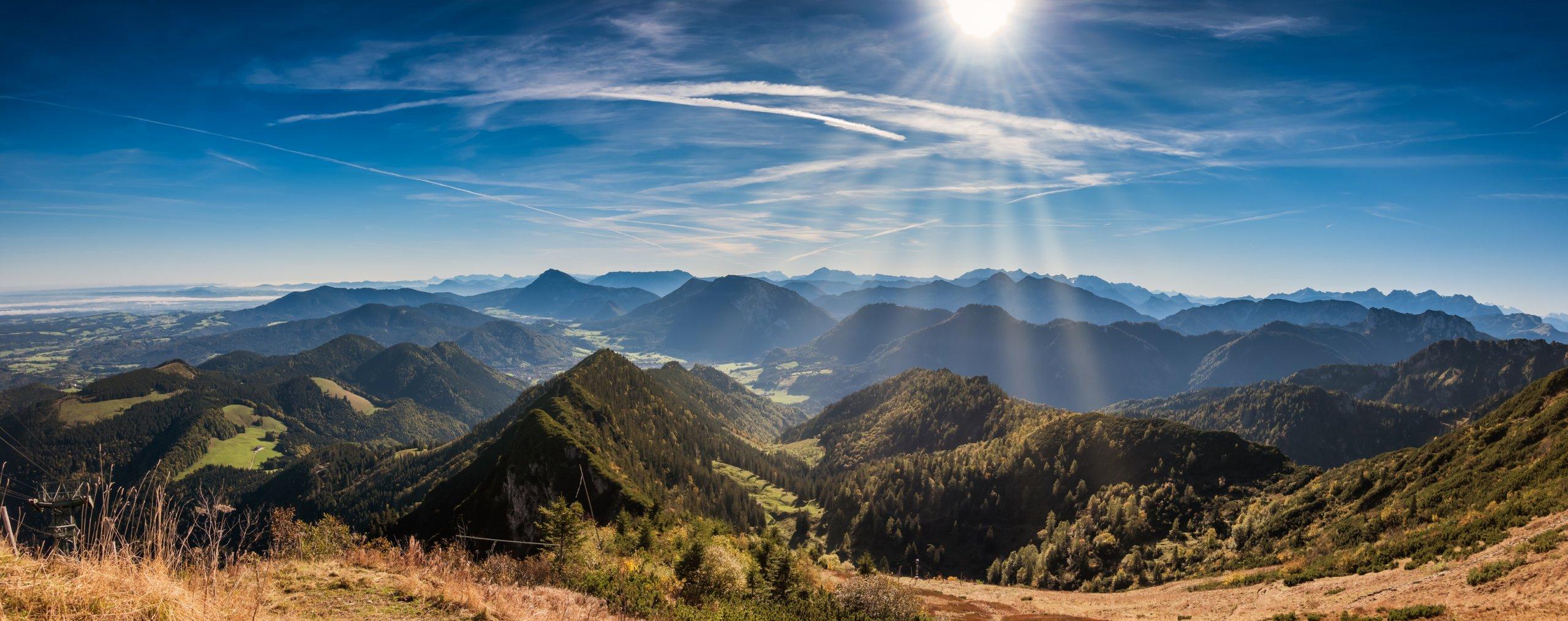 Urlaub zum Wandern in Oberbayern im Voralpenland bei Rosenheim, Bad Aibling und Chiemsee